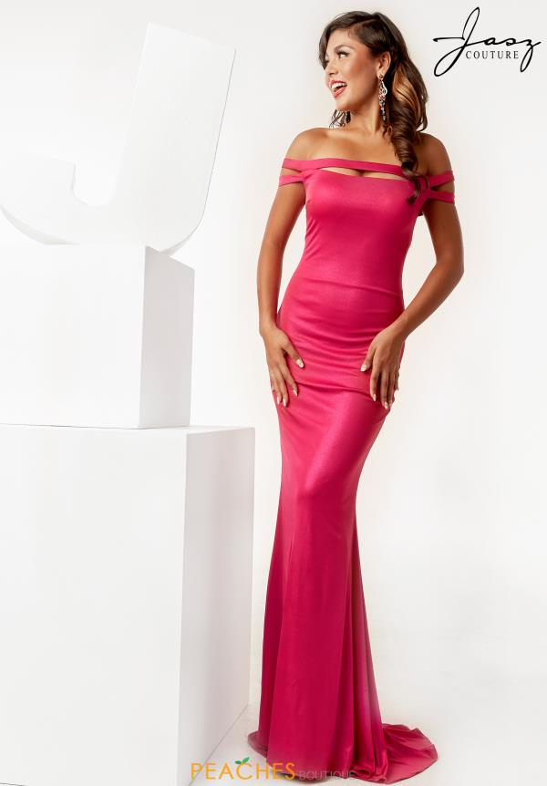 Jasz Couture Cap Sleeve Long Dress 6272