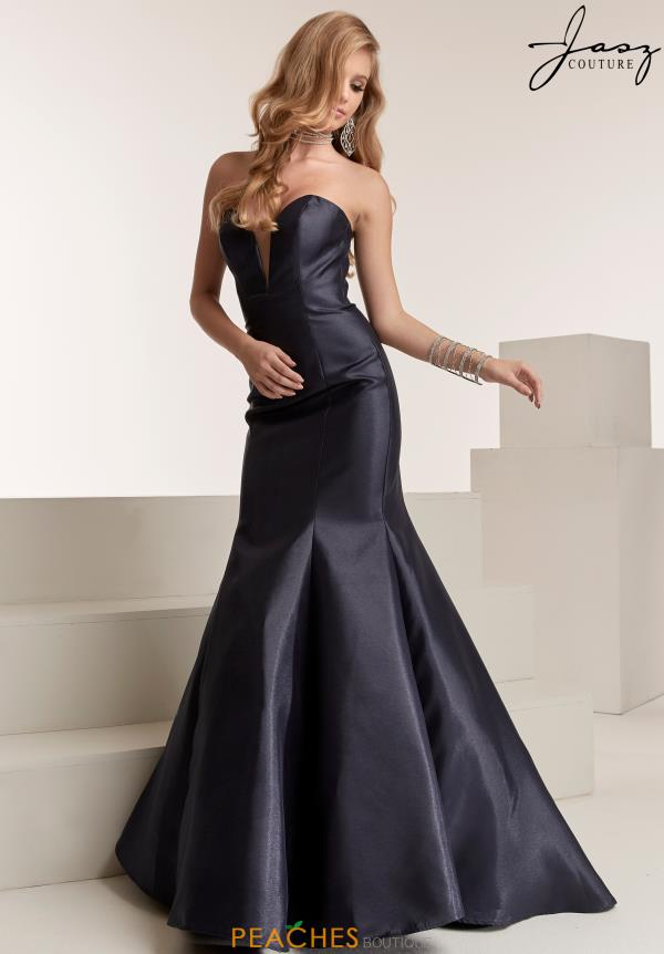 Jasz Couture Full Figured Mikado Dress 6305