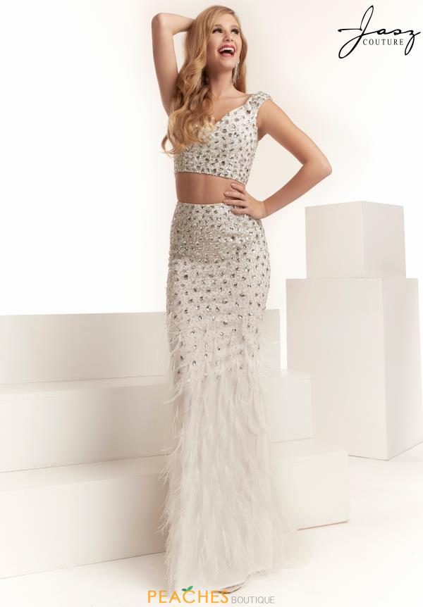 Jasz Couture Two Piece Feather Dress 6312