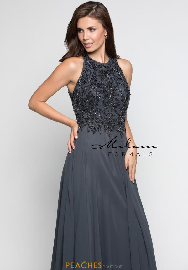 Milano Formals High Neckline A Line Dress E2247