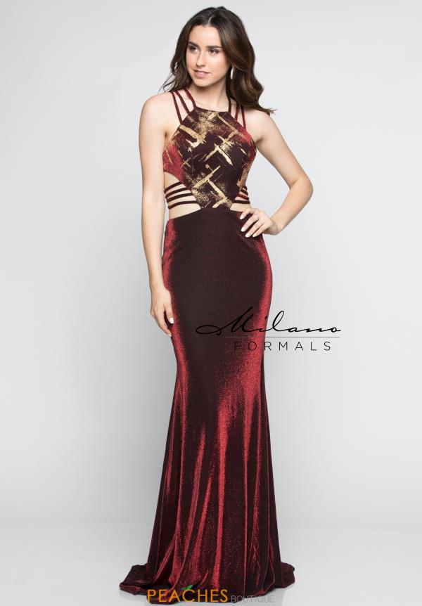 Milano Formals Long Sexy Dress E2279