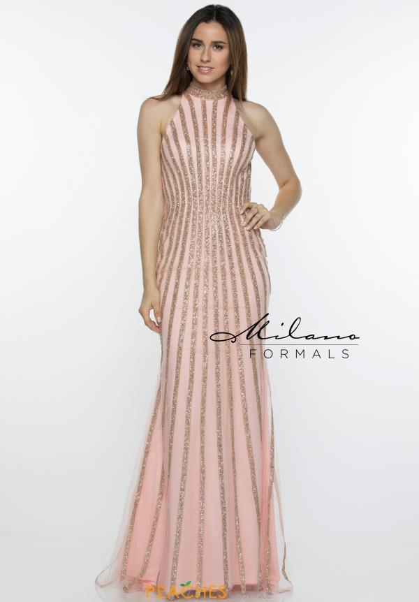 Milano Formals High Neckline Fitted Dress E2448