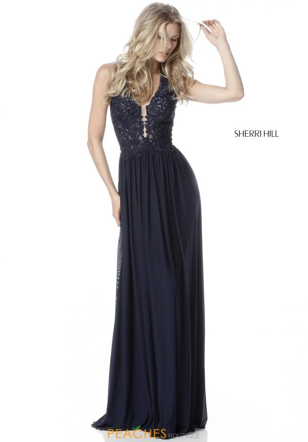 Sherri Hill Halter A Line Dress 51553