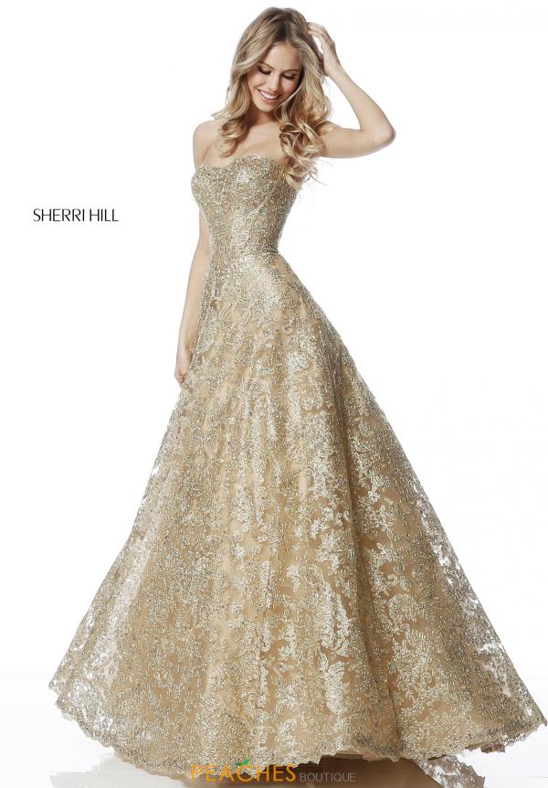 Sherri Hill Lace Sweetheart Dress 51572