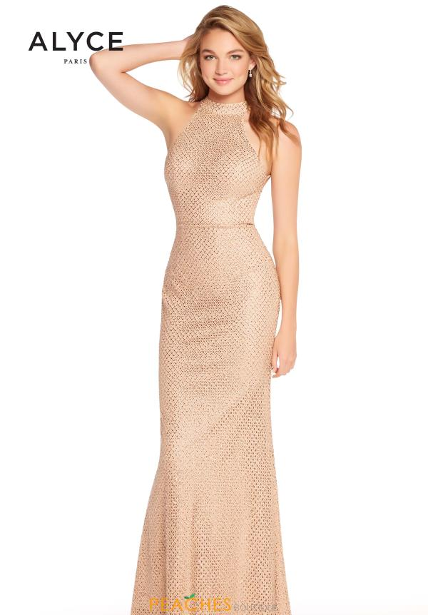 Alyce Paris Fitted Open Back Dress 60155