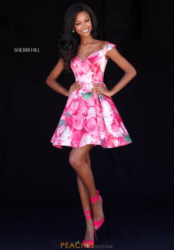 Sherri Hill Short Dress 51793 | PeachesBoutique.com