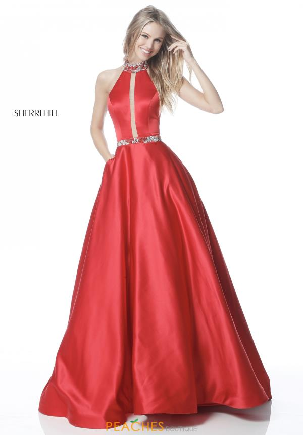Sherri Hill High Neckline A Line Dress 51589