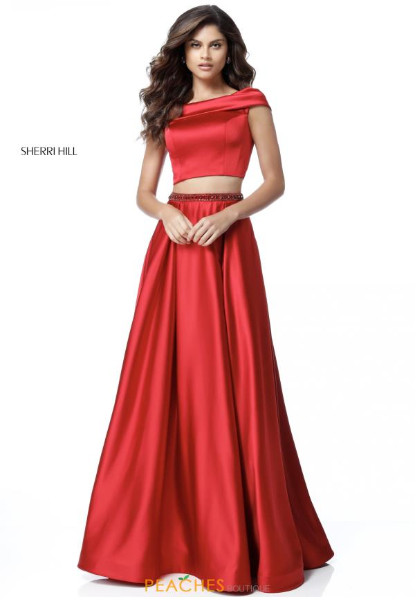 Sherri Hill Two Piece Satin Dress 51632