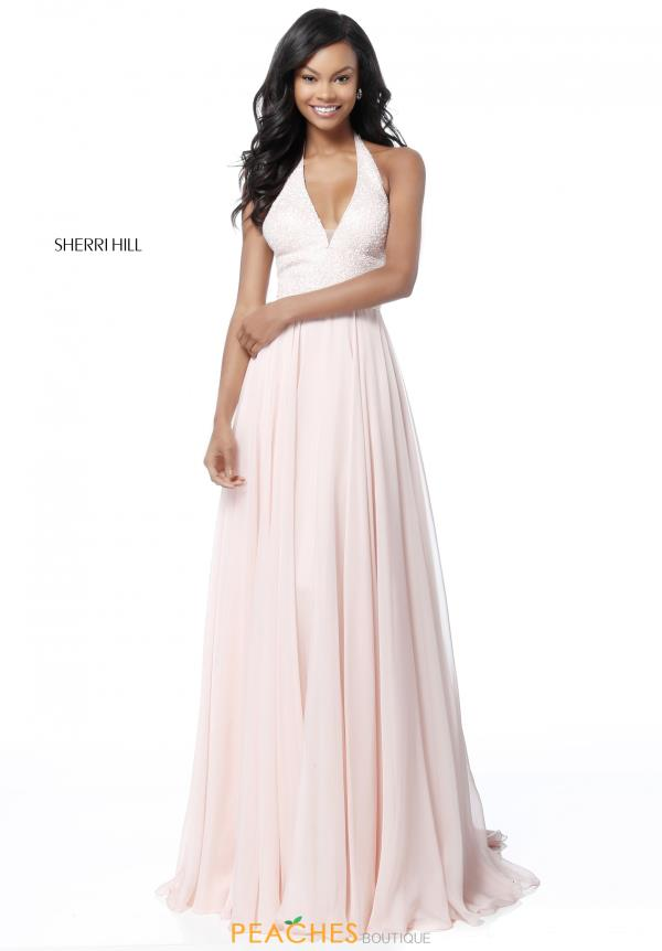 Sherri Hill Halter Top A Line Dress 51640