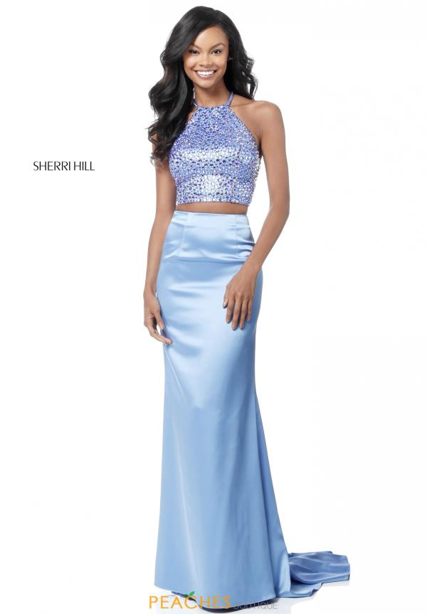 Sherri Hill Two Piece Satin Dress 51647