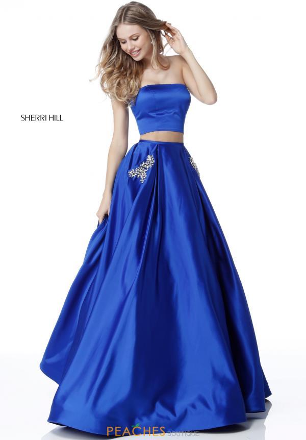 Sherri Hill Strapless A Line Dress 51649