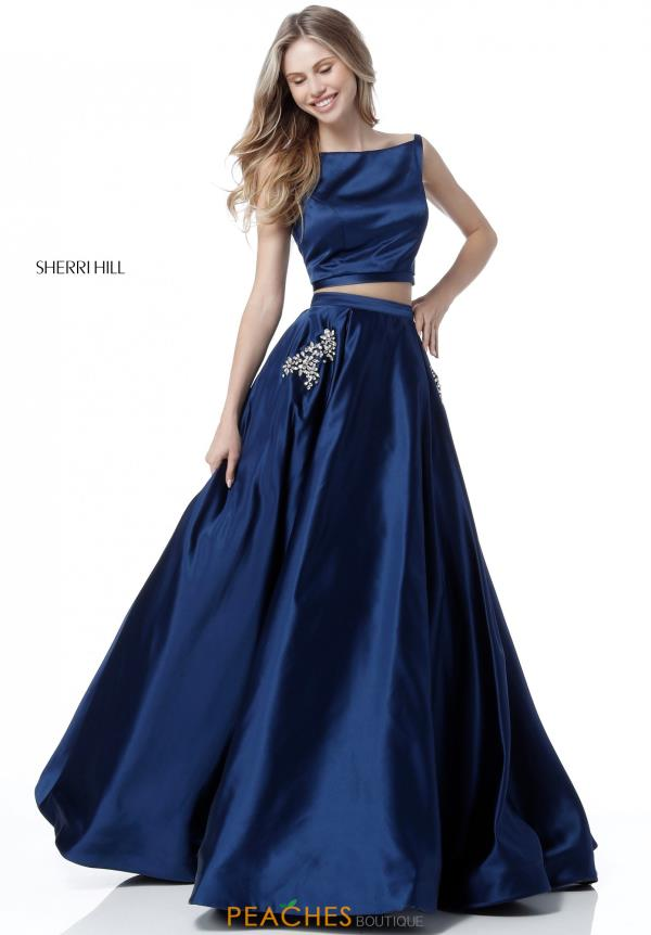 Sherri Hill Two Piece Satin Dress 51673