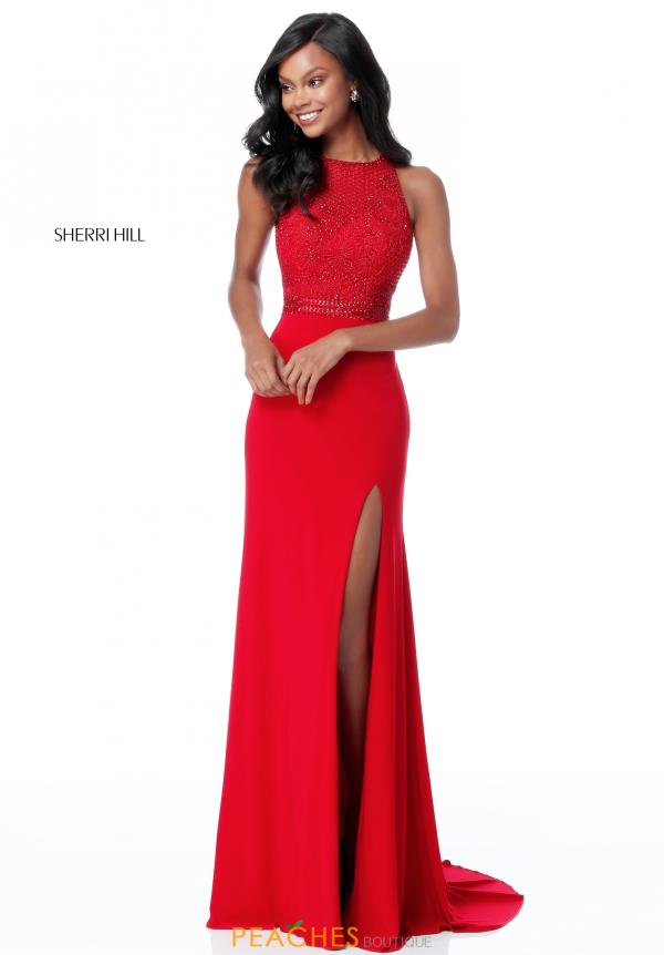 Sherri Hill Jersey Fitted Dress 51686