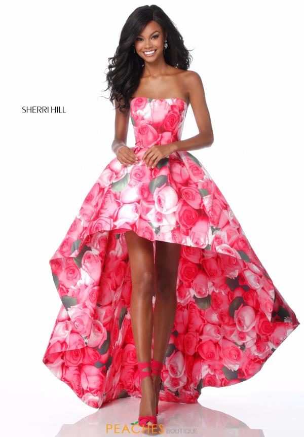 Sherri Hill High Low Taffeta Dress 51791