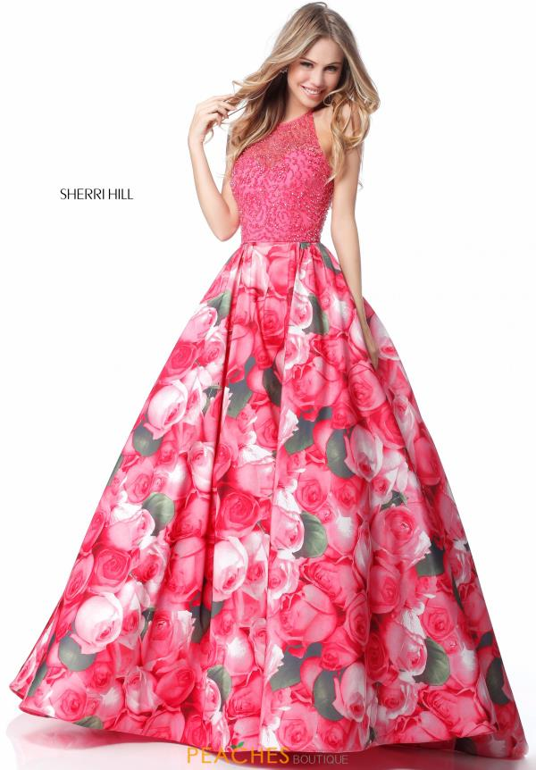 Sherri Hill Halter A Line Dress 51794