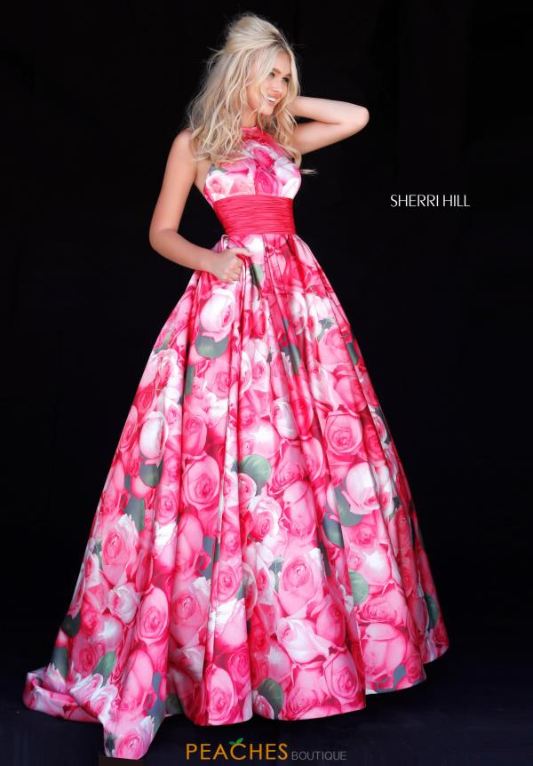 Sherri Hill Halter Taffeta Dress 51800