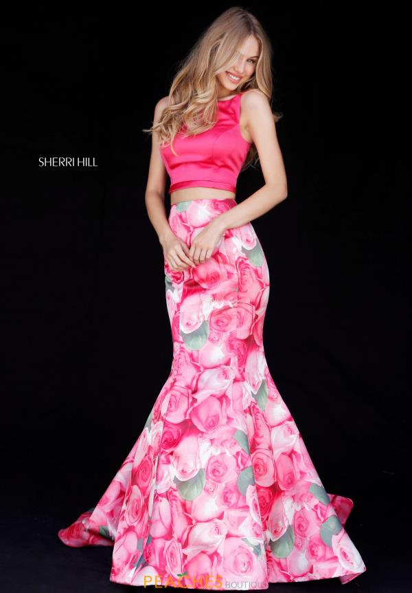 Sherri Hill Satin Two Piece Dress 51848