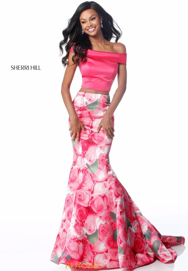 Sherri Hill Long Print Dress 51849