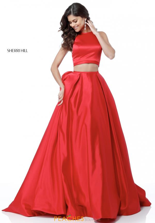 Sherri Hill Satin A Line Dress 51883