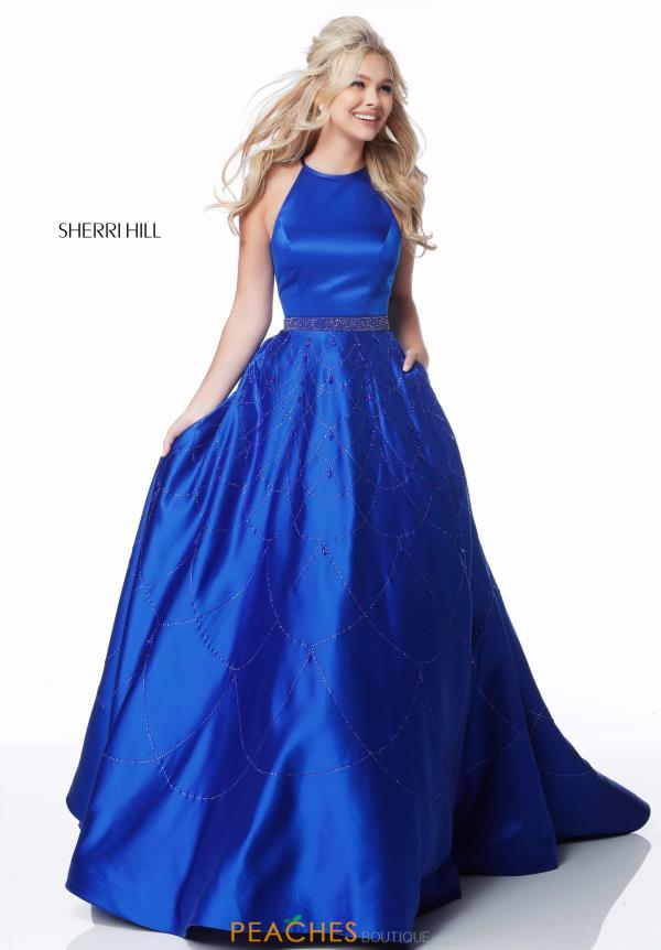Sherri Hill Full Figured Halter Dress 51731