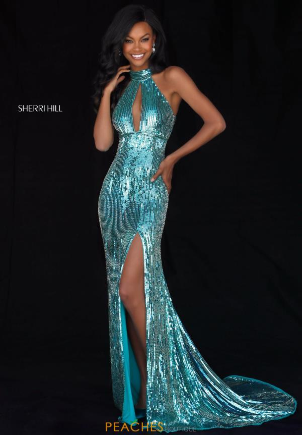 Sherri Hill Sequins Halter Dress 51741
