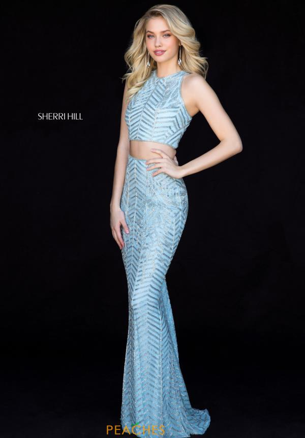 Sherri Hill Two Piece Beaded Dress 51782