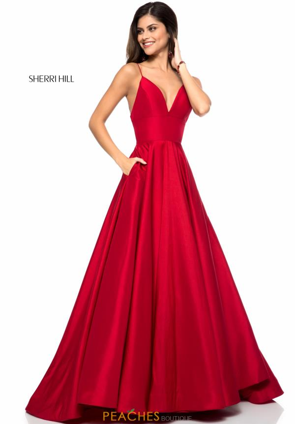 Sherri Hill A Line Taffeta Dress 51822