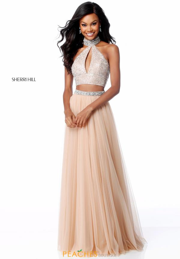 Sherri Hill Two Piece Beaded Dress 51910