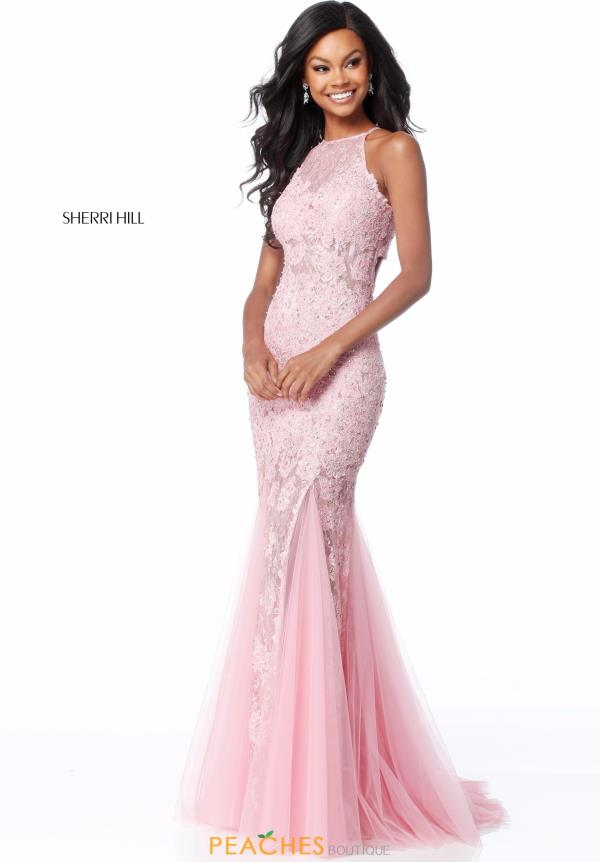 Sherri Hill Applique Fitted Dress 51913