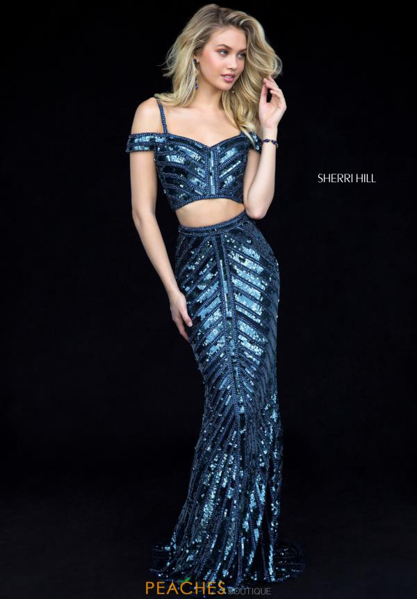 Sherri Hill Two Piece Beaded Dress 51934
