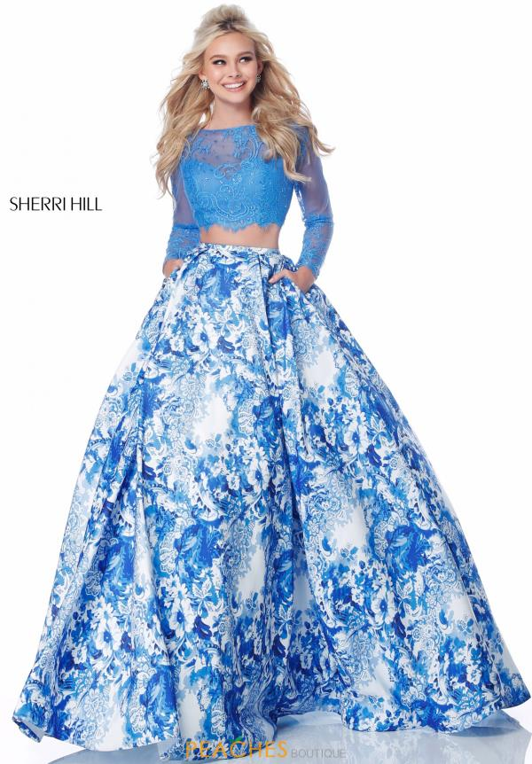 Sherri Hill Lace Two Piece Dress 51961