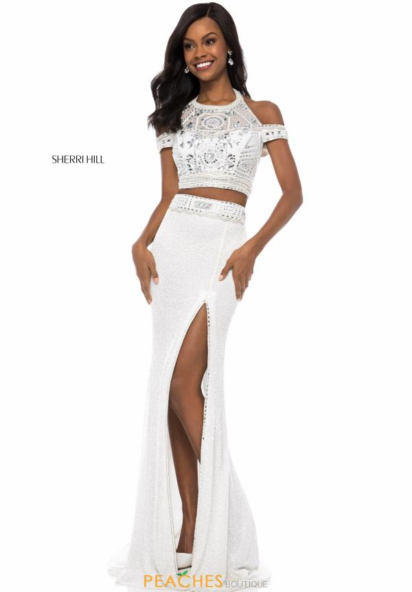 Sherri Hill Two Piece Halter Dress 52009