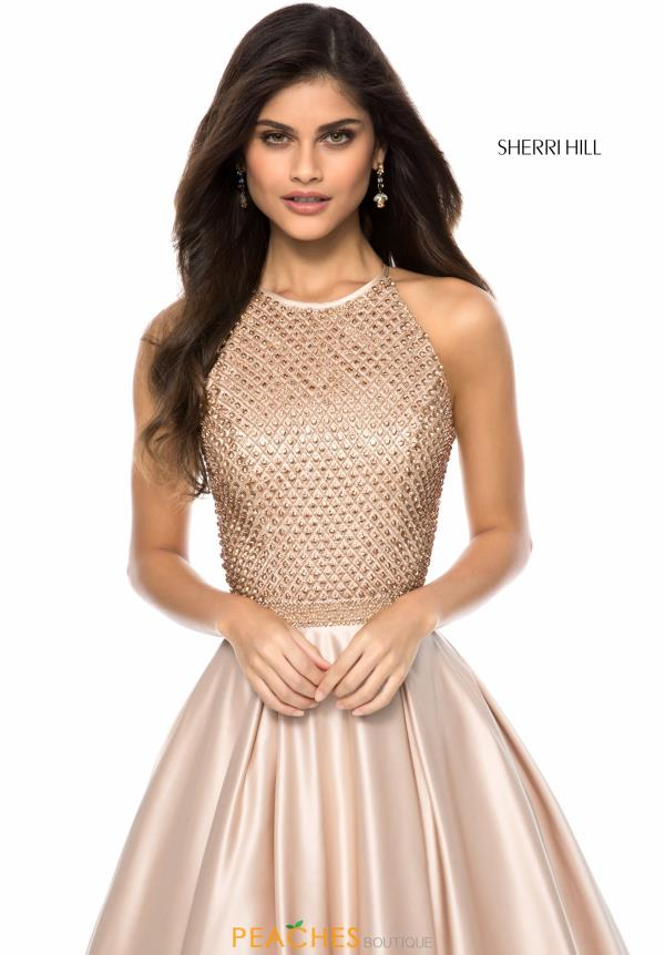 Sherri Hill A Line Satin Dress 52019