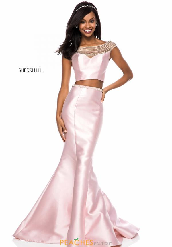 Sherri Hill Cap Sleeve Mermaid Dress 52025