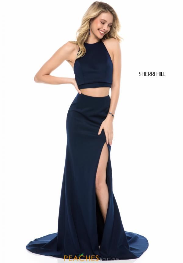 Sherri Hill Two Piece Halter Dress 52042