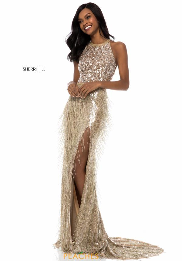 Sherri Hill Beaded Halter Dress 52067