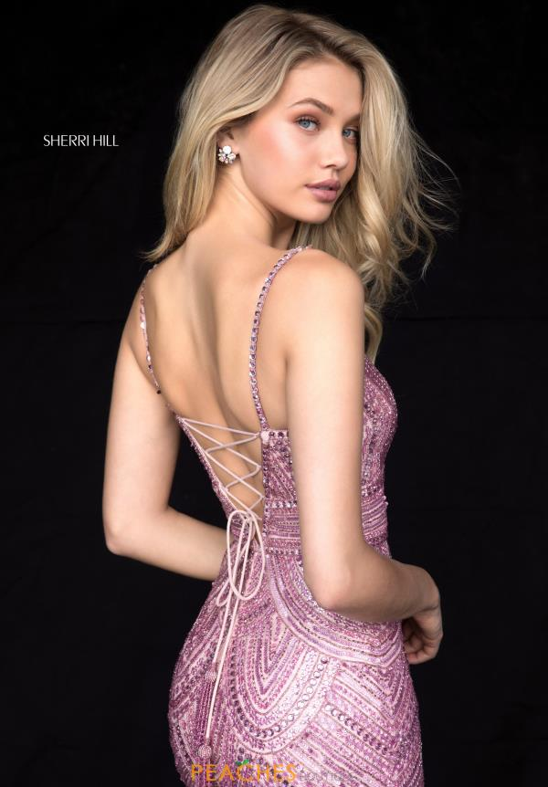 Sherri Hill V-Neck Beaded Dress 52070