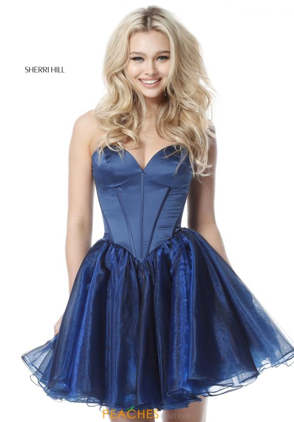 Sherri Hill Short Sweetheart Dress 51582