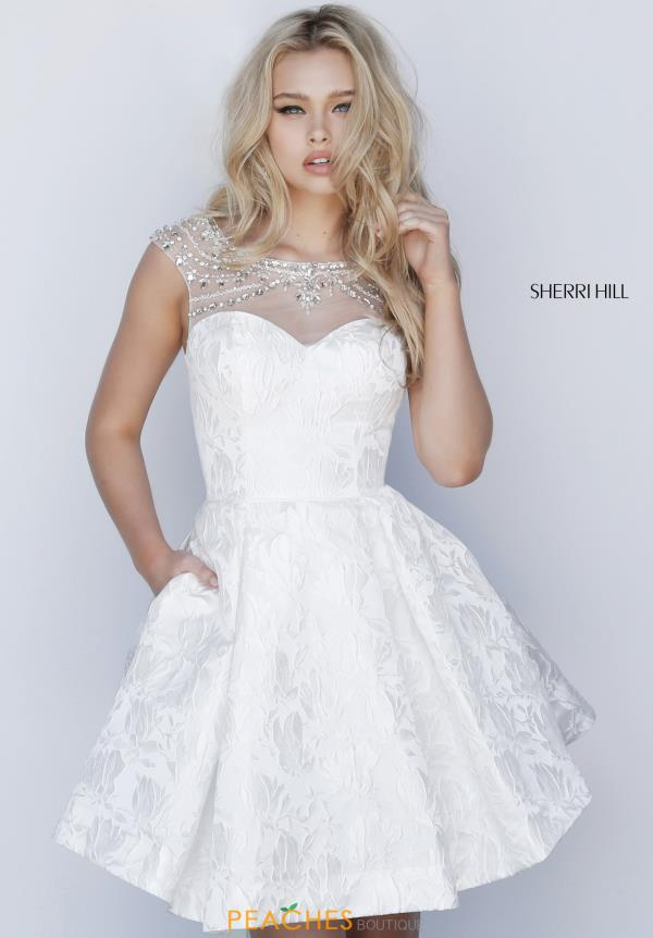 58e3c24025 Home · Dresses · Designers · Sherri Hill Short  15551878. Ivory.  51878. 1  of 3. Ivory