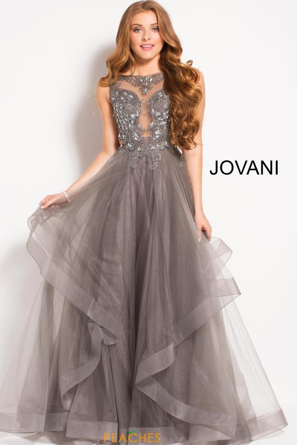 Jovani Beaded High Neckline Dress 48739