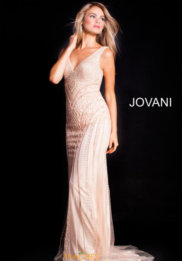Jovani Long Beaded Dress 54539