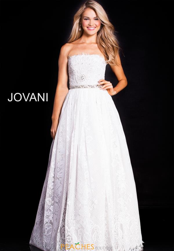 Jovani Strapless A Line Dress 54587