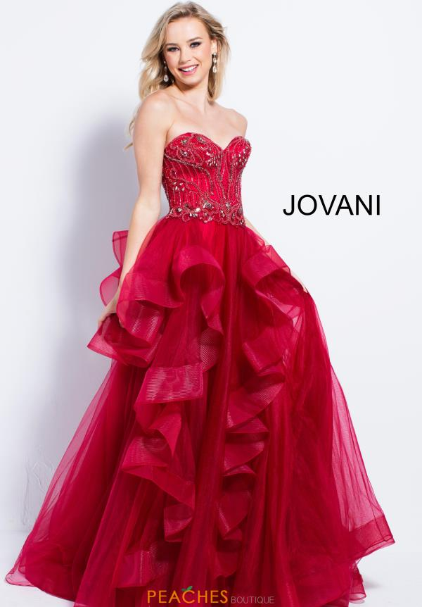 Jovani Sweetheart Neckline Beaded Dress 54642