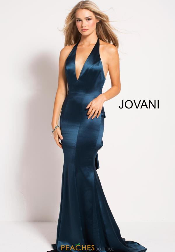 Jovani Halter Top Fitted Dress 54900