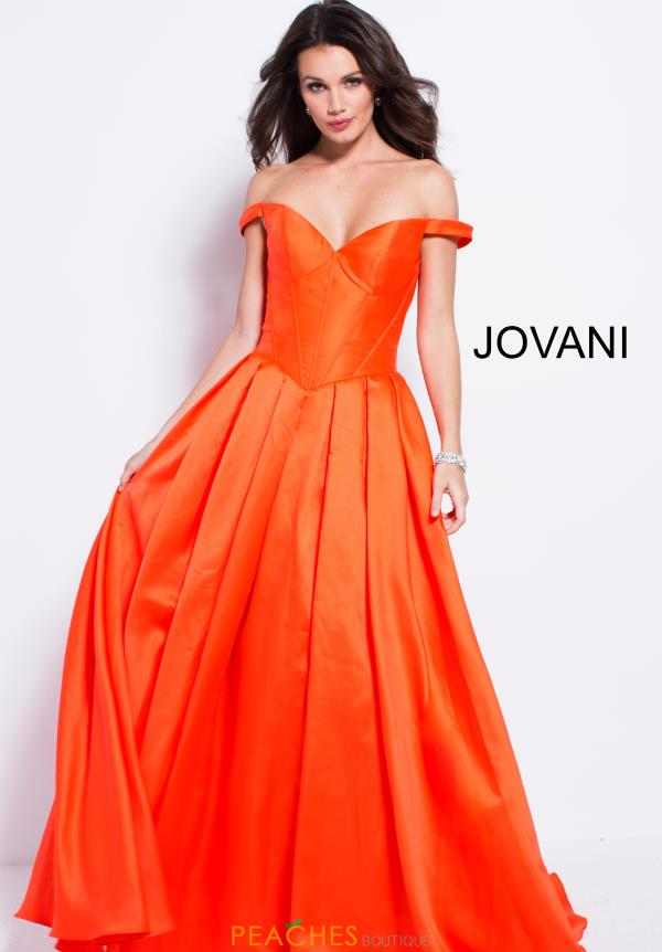 Jovani Cap Sleeved A Line Dress 54970
