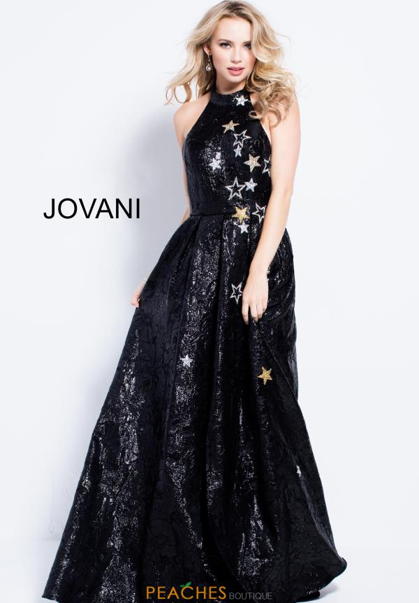 Jovani Long Black Dress 55020