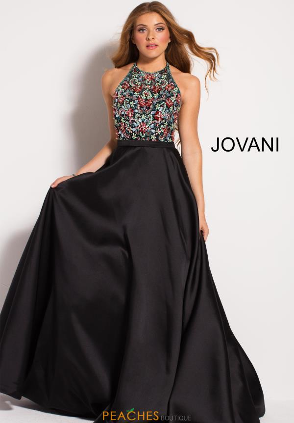 Jovani Long Black Dress 55129