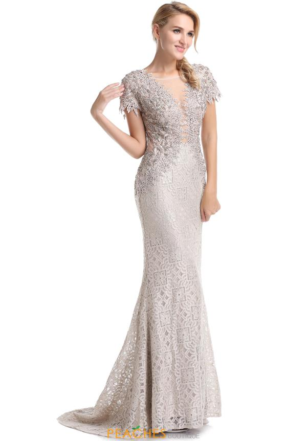 Romance Couture Cap Sleeve Beaded Dress RD1817