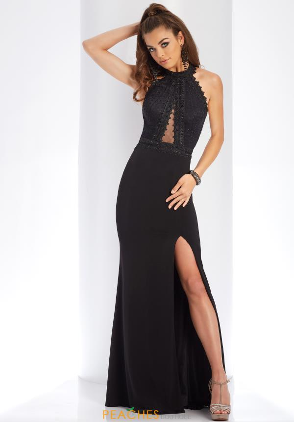 Clarisse Long Black Dress 3446
