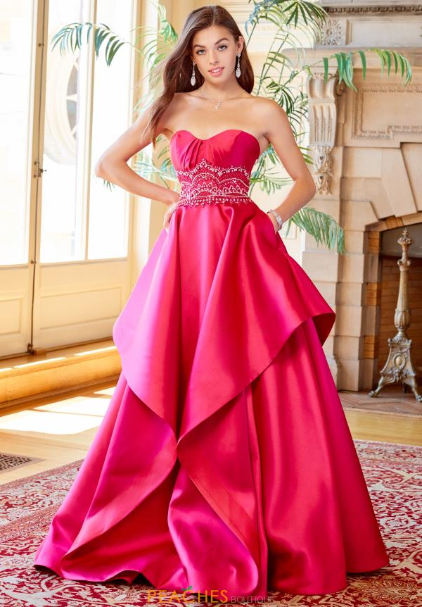 Clarisse Strapless A Line Dress 3478